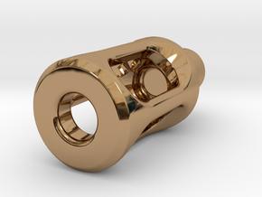 Tritium Lantern 1D Shorty (3x11mm Vials) in Polished Brass