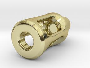 Tritium Lantern 1D Shorty (3x11mm Vials) in 18k Gold Plated Brass