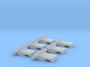 Angled Picatinny Mount Scaled 6x in Smooth Fine Detail Plastic