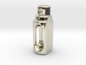 Tritium Pendant 2 (3x11mm Vials) in 14k White Gold