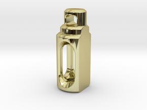 Tritium Pendant 2 (3x11mm Vials) in 18K Gold Plated