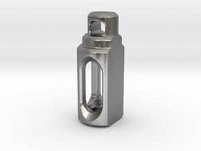 Tritium Pendant 2 (3x11mm Vials) in Natural Silver