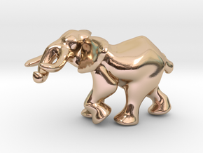 Elephant 1'' in 14k Rose Gold Plated Brass