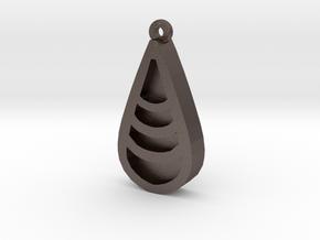 Unova Pendant [Wave] in Polished Bronzed Silver Steel
