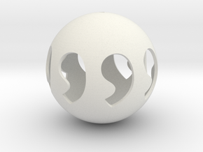 Comma symmetry sphere 88 in White Natural Versatile Plastic