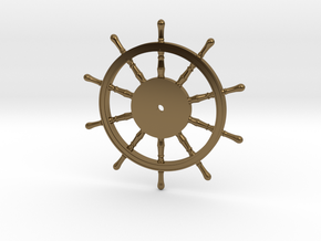 1:40 Ships-Wheel HMS Victory in Polished Bronze