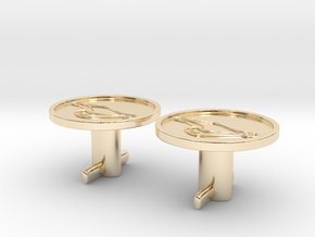 Duck's Bill Cuff Links in 14K Yellow Gold