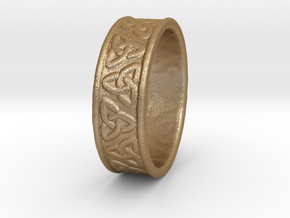 Celtic Ring 17.2mm in Matte Gold Steel