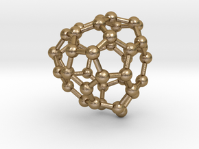 0152 Fullerene C40-40 td in Polished Gold Steel