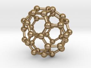 0149 Fullerene C40-37 c2v in Polished Gold Steel
