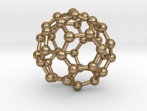 0148 Fullerene C40-36 c2 in Polished Gold Steel