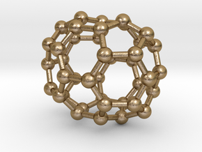 0145 Fullerene C40-33 d2h in Polished Gold Steel