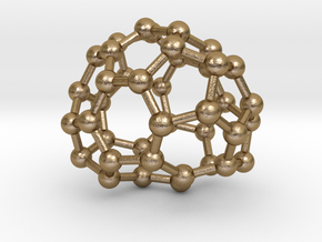 0144 Fullerene C40-32 d2 in Polished Gold Steel