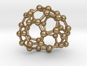 0144 Fullerene C40-32 d2 in Polished Gold Steel