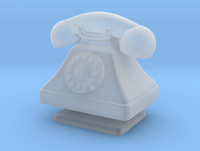 1/12 Scale Rotary Phone in Smooth Fine Detail Plastic