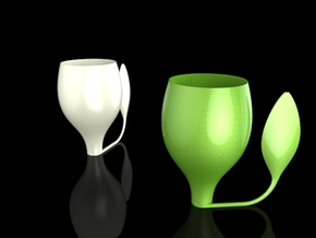 HOJACUP in White Natural Versatile Plastic