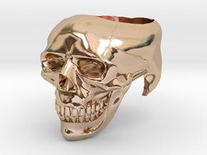 Skullring - ring size 12 in 14k Rose Gold