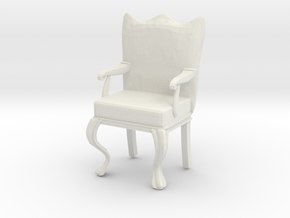1:12 Scale Dollhouse Miniature Louis XVI Chair in White Natural Versatile Plastic