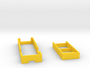 Sxmini Chipset Tray With Charging Board Tray in Yellow Processed Versatile Plastic