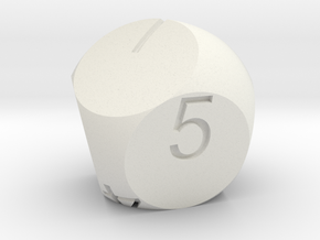 D7 2-fold Sphere Dice in White Natural Versatile Plastic