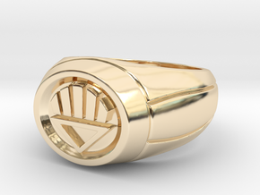 Black Lantern Ring in 14k Gold Plated Brass