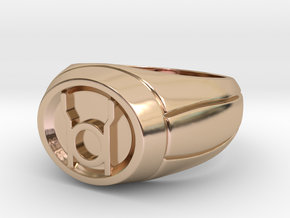 Red Lantern Ring in 14k Rose Gold Plated Brass