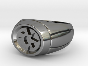 Violet Lantern Ring in Premium Silver