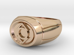 Indigo Lantern Ring in 14k Rose Gold Plated Brass