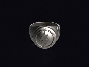 Barry Allen's Flash Ring in Polished Bronzed Silver Steel