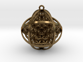 "Ball Of Life 1.5"" Pendant  in Polished Bronze"