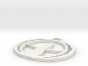 UU Chalice Pendant in White Natural Versatile Plastic