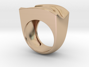 David's Eye Ring Hollow in 14k Rose Gold Plated Brass