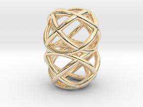 Loop Ring Pendant in 14K Yellow Gold