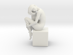 Girl On Box in White Strong & Flexible