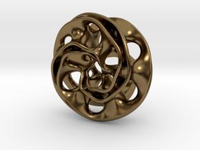Scherk Pendant in Polished Bronze