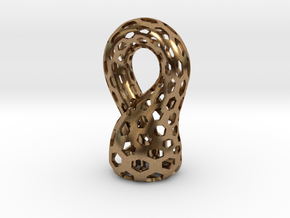 Klein Bottle, Small in Natural Brass