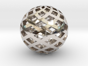 Sphere, Small in Rhodium Plated Brass