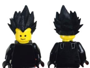 Custom Vegeta Inspired Lego in White Strong & Flexible