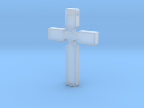 Monroe Cross Revised in Smooth Fine Detail Plastic