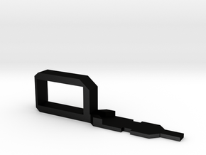 Myth Series Handle Left in Matte Black Steel