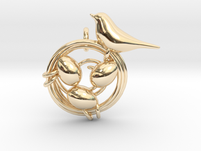 Birdie Pendant in 14K Yellow Gold