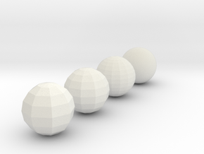Sphere objects for test printing_V1.2  in White Natural Versatile Plastic