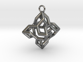 Platonic-3 in Fine Detail Polished Silver