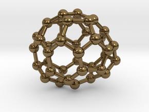 0128 Fullerene C40-22 c1 in Polished Bronze