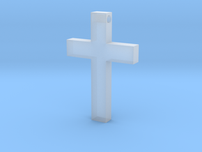Latin Cross Pendant (Monroe Cross Variation) in Smooth Fine Detail Plastic