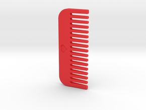 Comb in Red Processed Versatile Plastic
