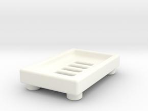 Soap Dish A in White Processed Versatile Plastic