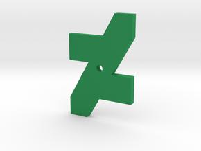 DA Logo 2 Normal CH1 in Green Processed Versatile Plastic