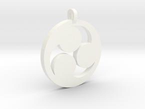 Tomoe Pendant in White Processed Versatile Plastic