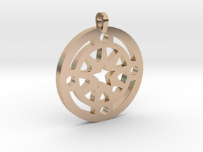 Star Pendant in 14k Rose Gold Plated Brass